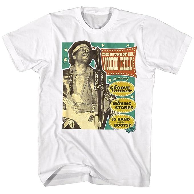 2Bhip Jimi Hendrix Leyenda Americana Guitarra Eléctrica de Rock vudú Niño Camiseta para Hombre X-Grande Blanco: Amazon.es: Ropa y accesorios
