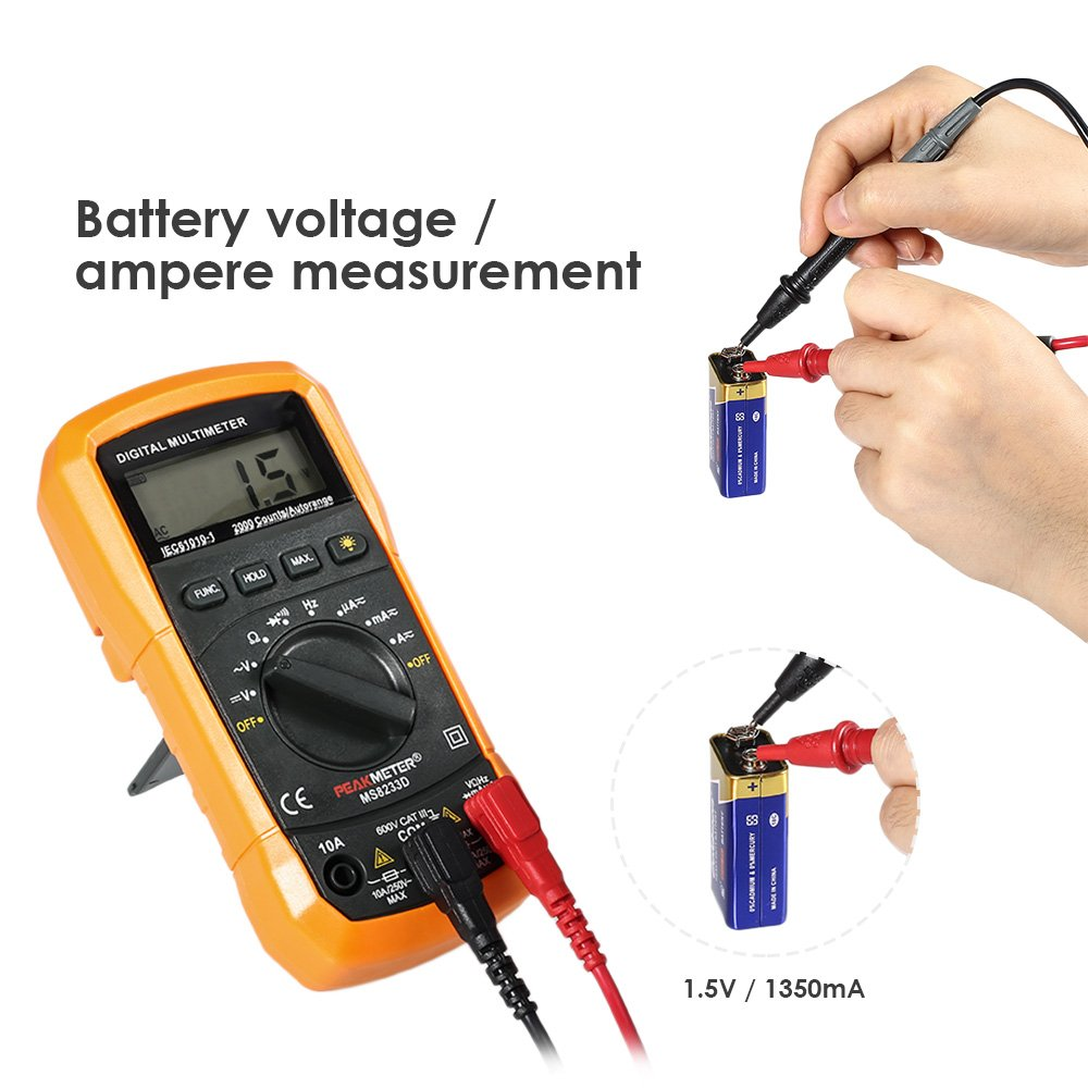 Hyelec Ms8232 Non Contact Mini Digital Multimeter Dc Ac Voltage And Current Tester Gblife