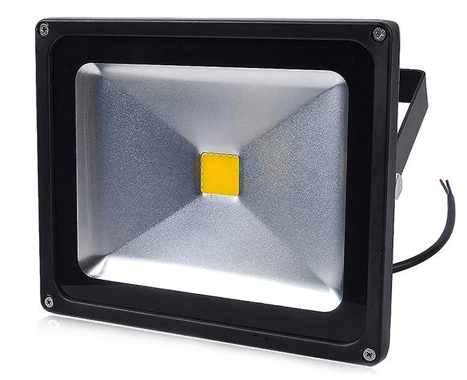 Leetop 30W 10W 20W Negro Blanco Cálido Foco Proyector LED ...