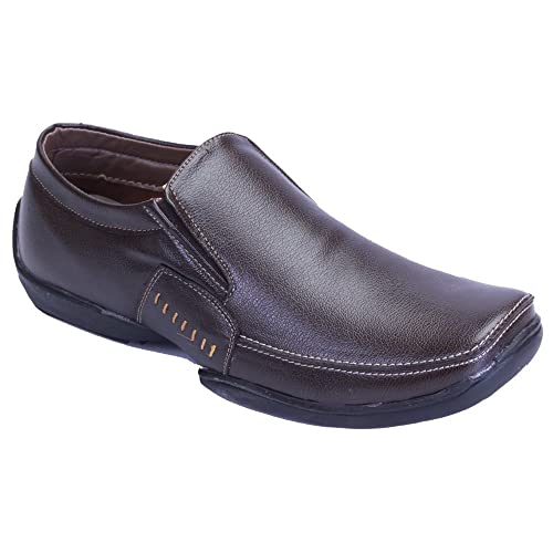 free shipping real Shoebook Slip On Brown Formal Shoes popular for sale outlet shop for outlet excellent hot sale Fu8gZzF6Ko