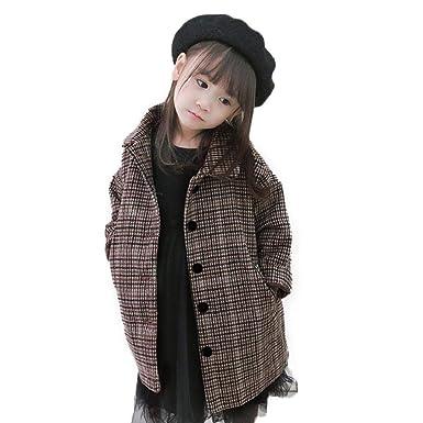 ce3b4c370010f コート 子供服 女の子 Kukoyo 秋冬 ジャケット スウェット プルオーバー 厚手 チェック 千鳥格子 ボタン