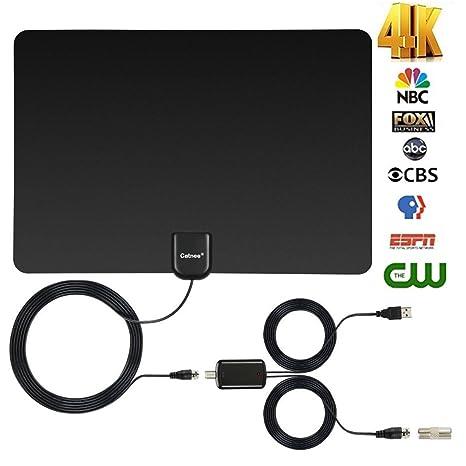 Skywire TV Antenna HD Digital, Indoor HDTV Digital Antenna Amplified 150 Mile Range Support 4K