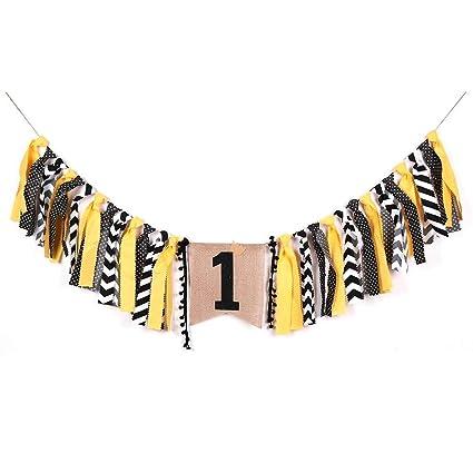Amazon Palasasa Crown Boy Black And Yellow One Banner Handmade