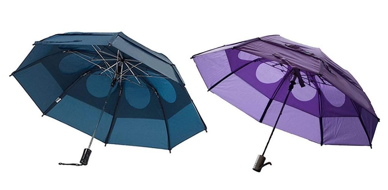 Gustbuster Metro Wind Resistant Umbrellas 2 Pack Bundle (Navy and Light Purple) by GustBuster (Image #1)