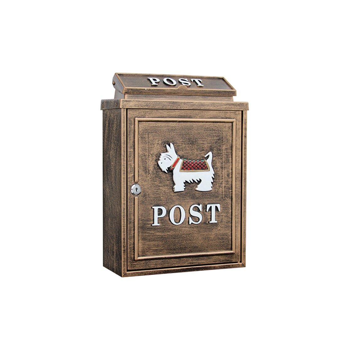 LRW ヨーロッパスタイルのヴィラの郵便箱の屋外のメールボックス防水レインウォール防水クリエイティブメールボックス B07CVSS7MD 19927