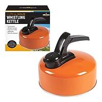 Milestone Camping Aluminium Kettle - Orange, 1 Litres COLOUR