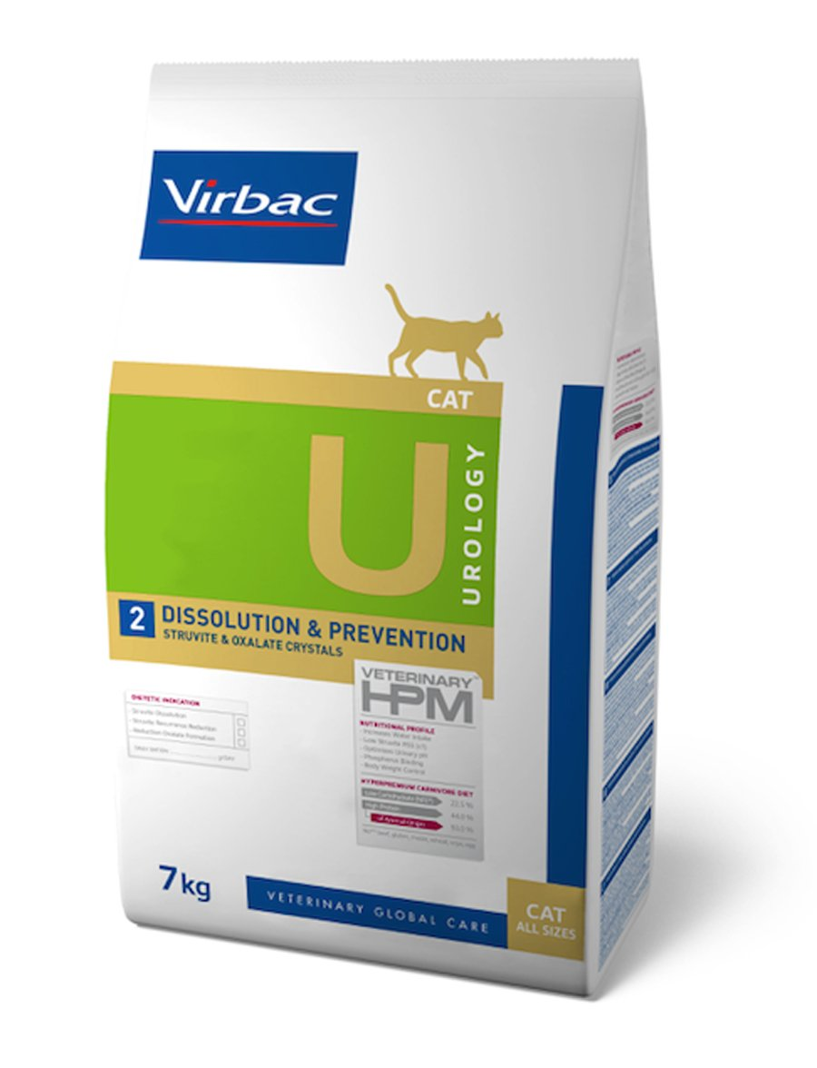 Virbac Vet HPM Diet - chat - U2 Urology, dissolution et prevention - 7 kg