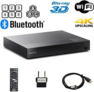 Sony BDP-S6700 Multi Region Blu-ray DVD Region Free Player 110-240 Volts; Dynastar HDMI Cable & Dynastar Plug Adapter Package WiFi / 3D/ 4K UpScaling Smart Region Free