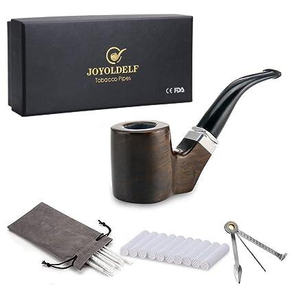 Amazon.com: Joyoldelf forma de cilindro pipa de tabaco pipa ...