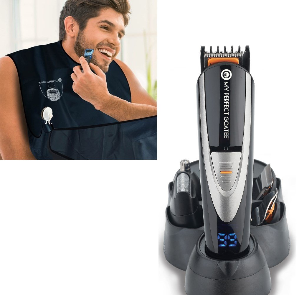My Perfect Goatee, Men's Beard Bib and Beard Trimmer