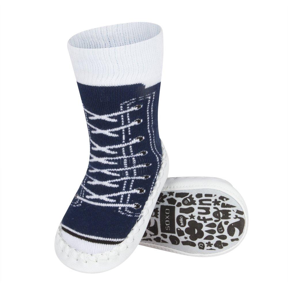 soxo Baby Socken H/üttenschuh S/öckchen Mit Ledersohle Anti Gute Qualit/ät Unisex Modelle f/ür M/ädchen und Jungen Rutschsohle