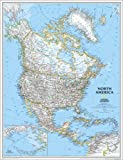 "North America Classic Wall Map Map Type: Enlarged and Laminated (46""H x 36""W)"