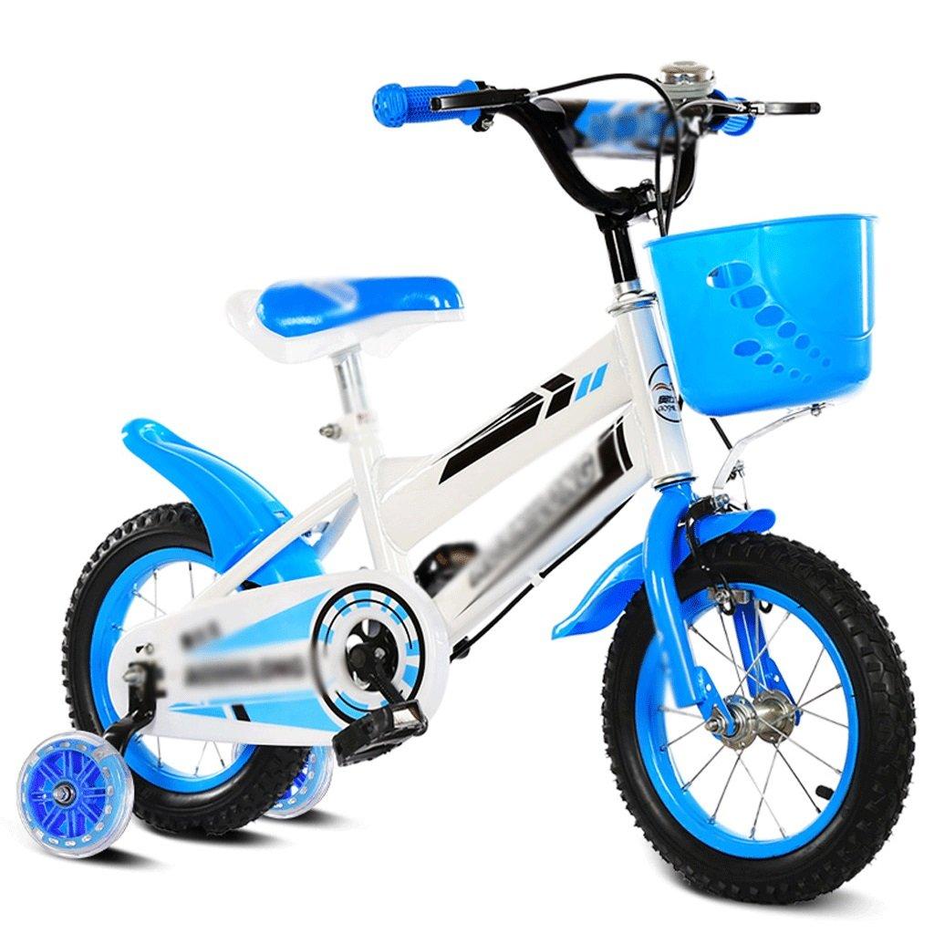 自転車 子供用自転車3-4-5-6-7-8歳の男の子と子供たちキッズマウンテンバイクフラッシュホイール+ブルー12/14/16/18インチ (サイズ さいず : 14 inch) B07DZVV36114 inch