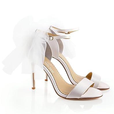 93e490c71222e Heel Bow Tulle Wedding Romantic ELS Ivory 6