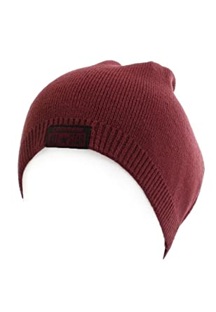 d56d4044d3d Converse BEANIE Hat DRIFTED 410559-Burgundy - Red - One size  Amazon.co.uk   Clothing