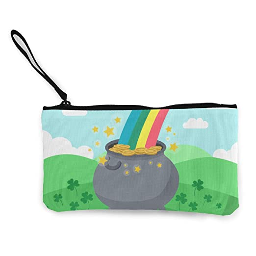 d1d0fdb4 Image Unavailable. Image not available for. Color: Coin Purse St Patricks  Day Background With Rainbow ...