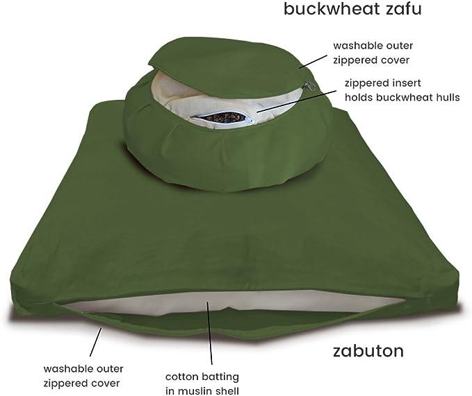 DharmaCrafts Zafu and Zabuton Set (ZZSet) Meditation Cushions