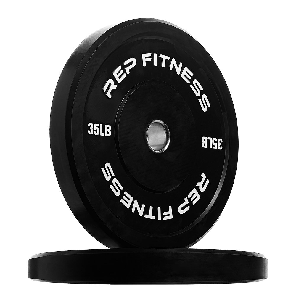 Rep Bumper Plates for Strength and Conditioning Workouts and Weightlifting 35 lb Pair