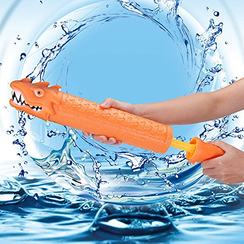 Water Gun Dragon Water Soaker Squirt Gun for Kids Adults Summer Play Toys Pull Type Water Shooter Outdoor Pool Bathing Rafting Beach Games -Shoots up to 30 ft
