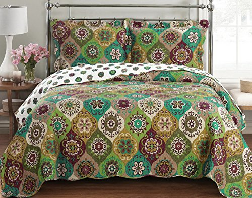 Quilt Coverlet Set Twin Twin Xl Single Size Moroccan Boho