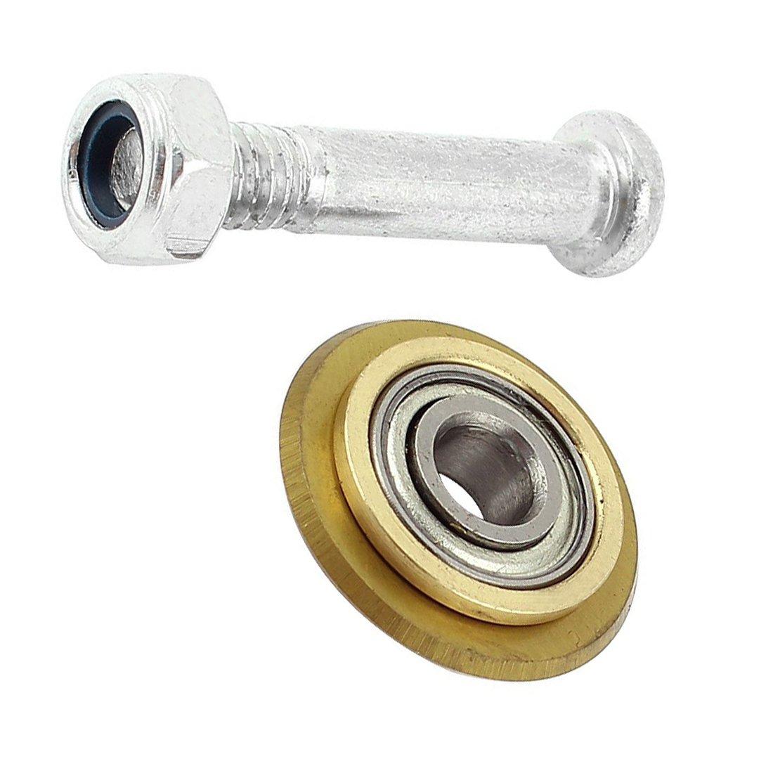 Cikuso 22mm 7//8 diametro Rueda de corte del azulejo de cojinete giratorio recubierto de titanio Color laton
