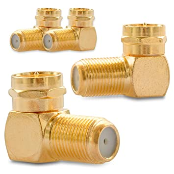 F-Winkeladapter Sat F-Kabel Kupplung Adapter Verbinder Winkel