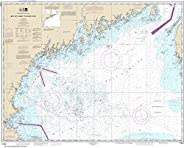 """NOAA Chart 13260 Bay of Fundy to Cape Cod: 35.48"""" X 44.24"""" Lam"""