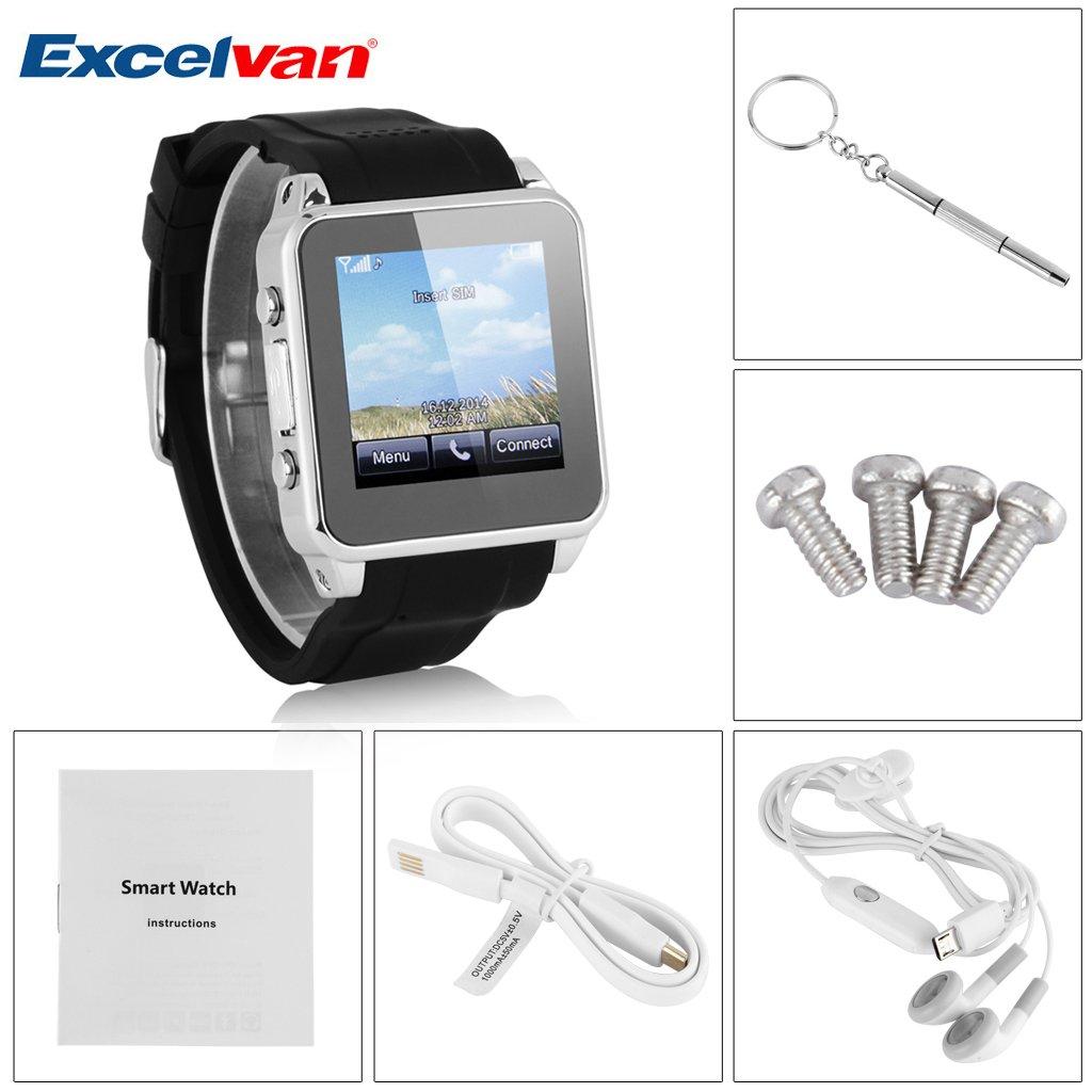 Excelvan, Smart Watch-Reloj teléfono móvil libre Bluetooth ...
