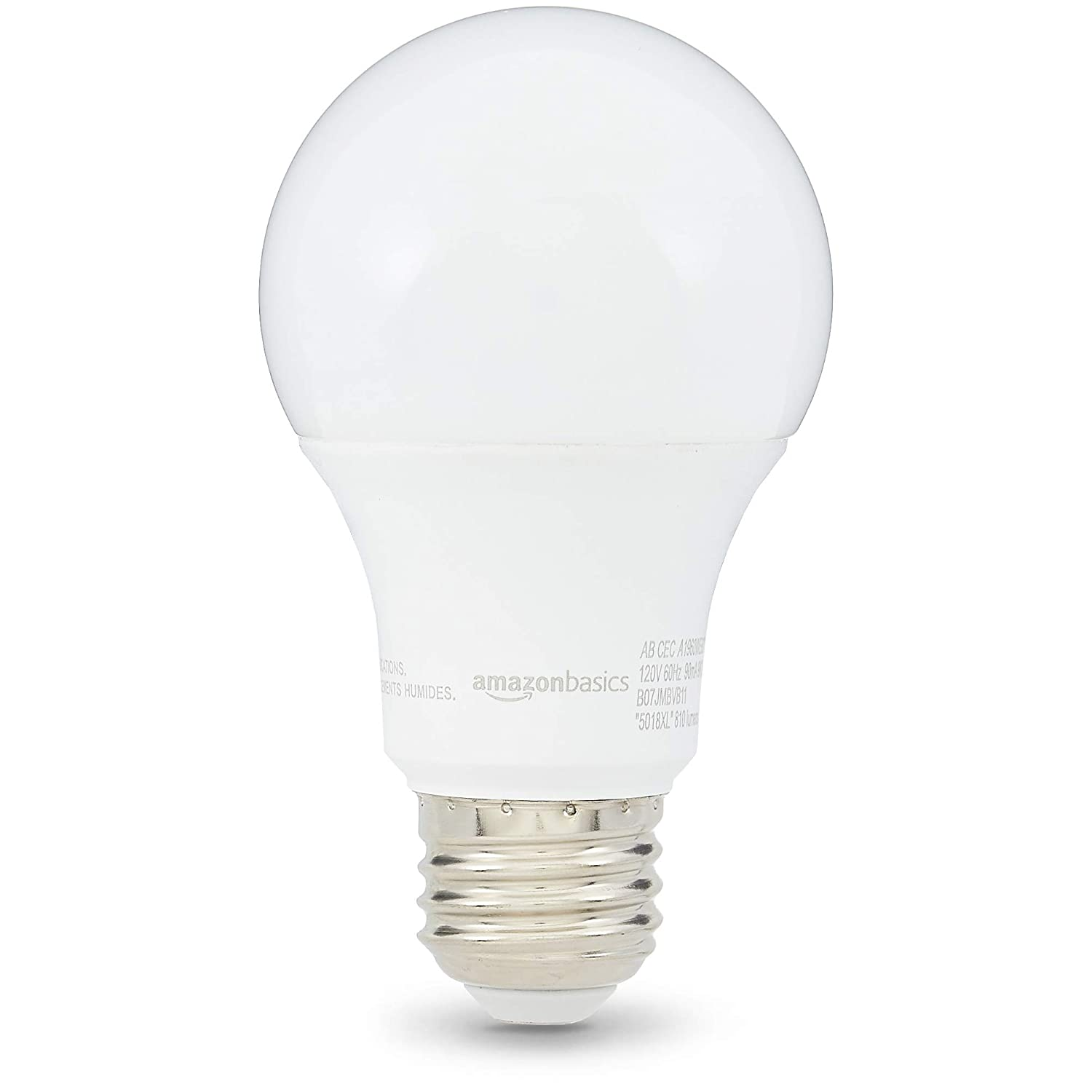 Daylight Basics 60W Equivalent 6-Pack FG-03402 Dimmable Clear A19 LED Light Bulb CEC Compliant