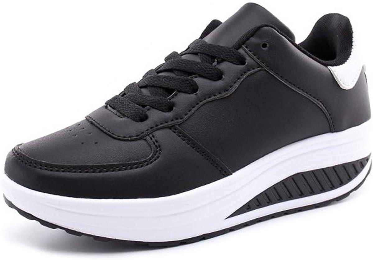 Femmes Chaussures compens/ées /à Plateforme Dames Chaussures de Fitness Orthop/édie Espadrilles de Coin Noir 39