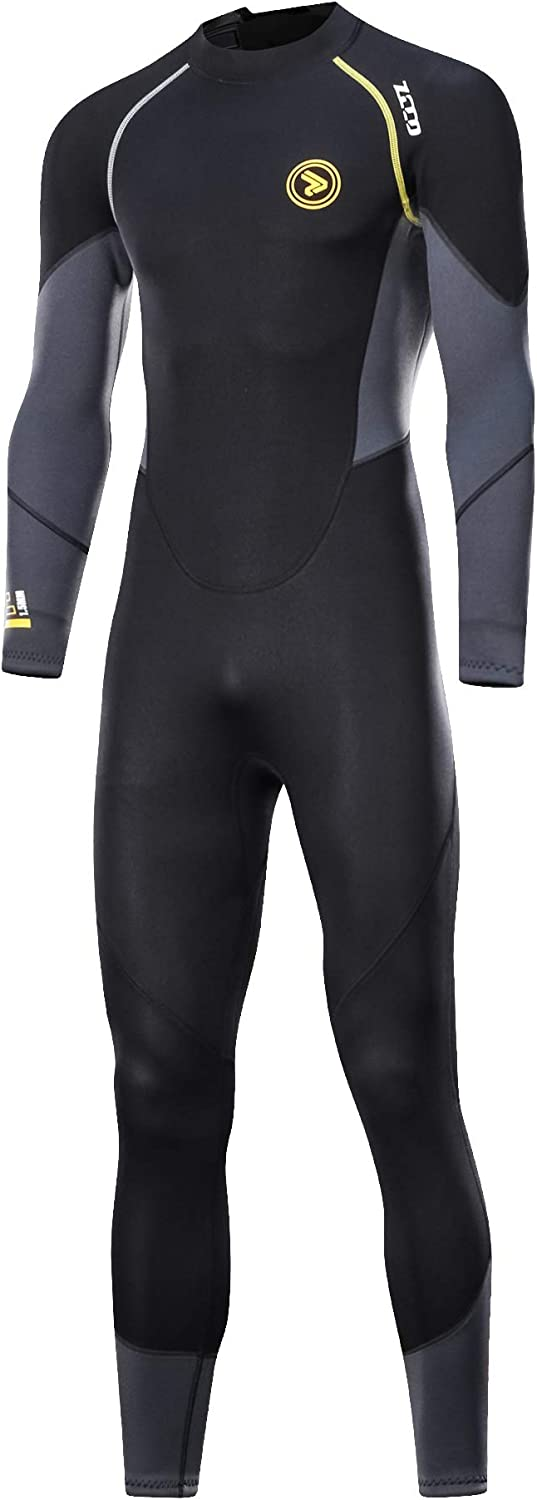 Wetsuits Men s 1.5mm Premium Neoprene Full Sleeve Back Zip UV Protection Dive Skin for Spearfishing,Snorkeling, Surfing,Canoeing,Scuba Diving Suits
