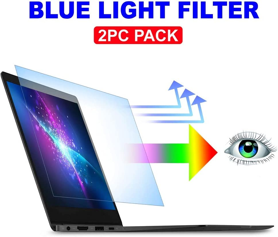 """AyaWico 2PC Pack 13.3 inch Blue Light Blocking Laptop Screen Protector, Blue Light Filter for Notebook Computer Screen 13.3"""" Display 16:9"""
