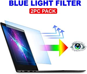 "AyaWico 2PC Pack 13.3 inch Blue Light Blocking Laptop Screen Protector, Blue Light Filter for Notebook Computer Screen 13.3"" Display 16:9"