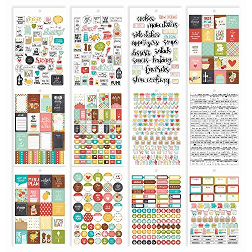 Recipe Scrapbook Stickers - Simple Stories Recipe Sticker Tablet