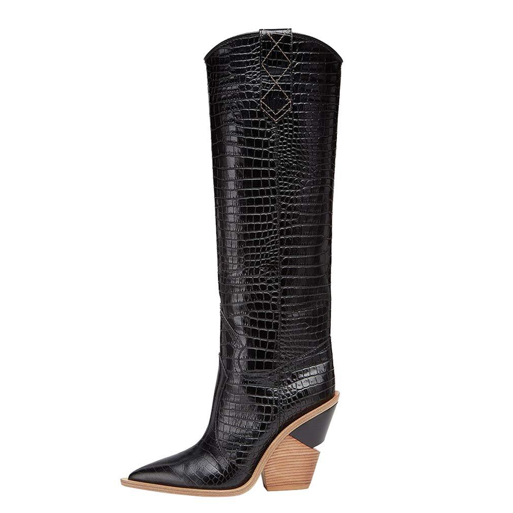e06f7f41c0c Amazon.com   Themost Womens Cowgirl Knee High Boots Miami Western ...