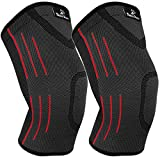 Fitness Braces Compression Knee Sleeve / Brace (1 PAIR) - Pain Relief, Meniscus Tear, Knee Arthritis, Recovery, Running, CrossFit, Basketball … (Large)