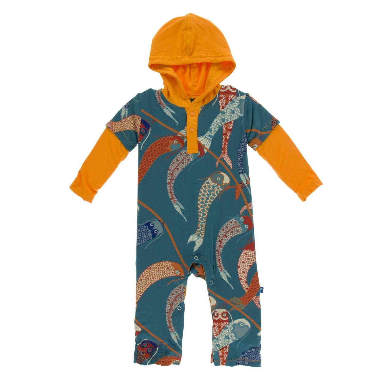Kickee Pants Baby Boys Long Sleeve Hoodie Romper Prd-kplhr252-ttw