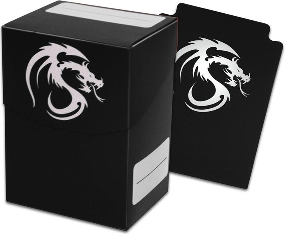 Black Trading Card Boxes - Gaming Deck Cases - Each Holds 80 Cards - DC-BLK - (90 Boxes) by BCW
