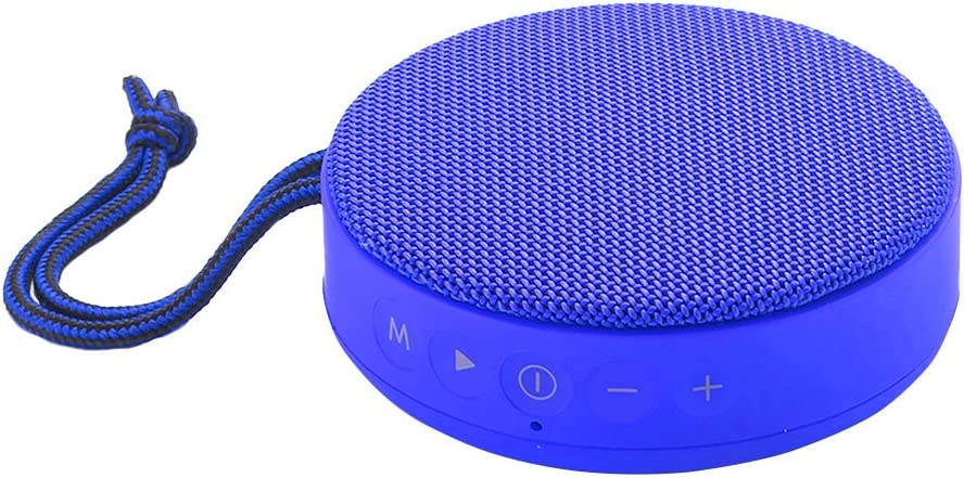 Vieta Pro Round Up - Altavoz inalámbrico portátil ultra-power con Bluetooth audio streaming, USB player, radio FM, reproductor de tarjetas Micro SD, voice call y acabado en color azul