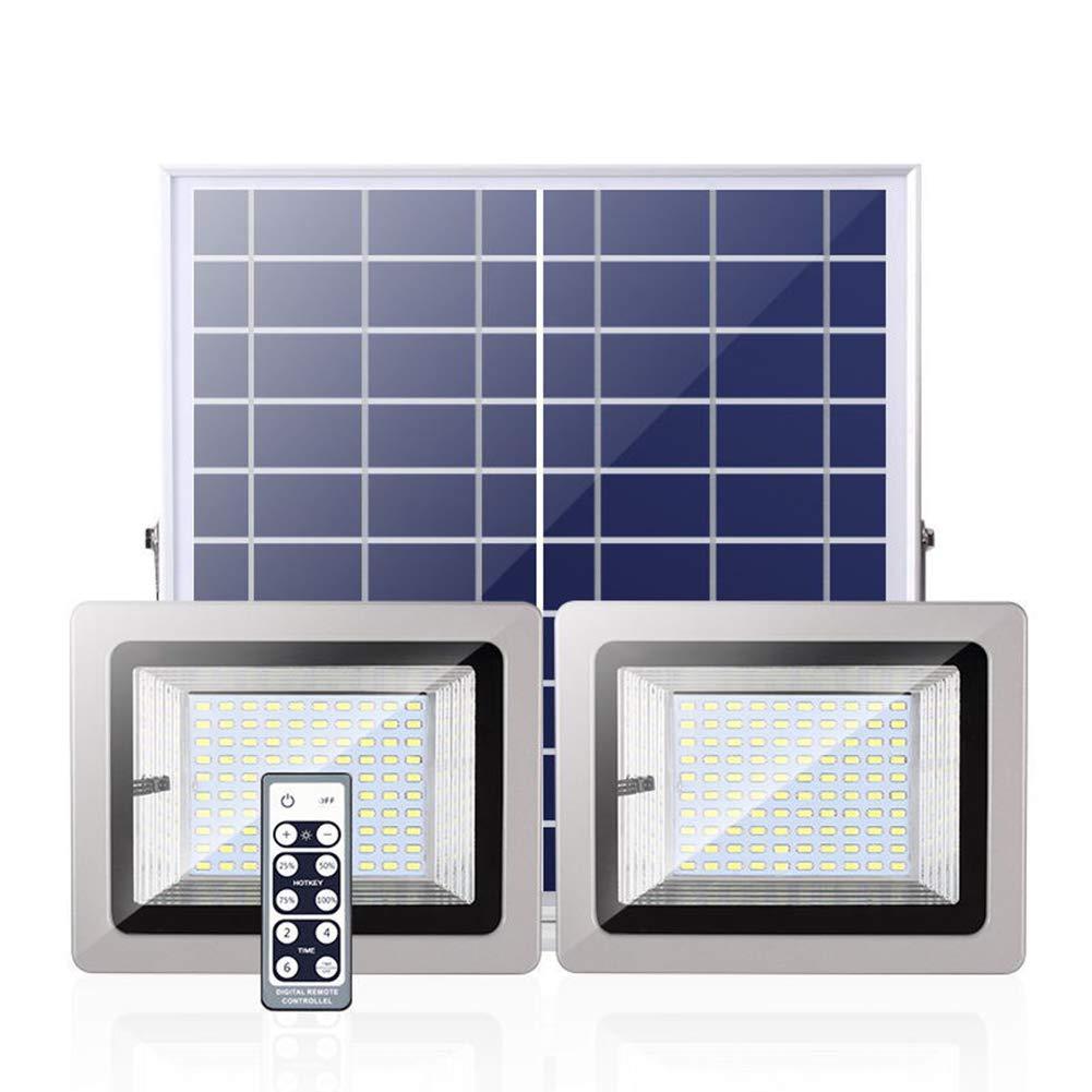 ソーラーLEDライト屋外分割IP65 2ランプ防水スーパーライティング装飾ガーデンエントランスロード B07NPL1N99 5.5V7W
