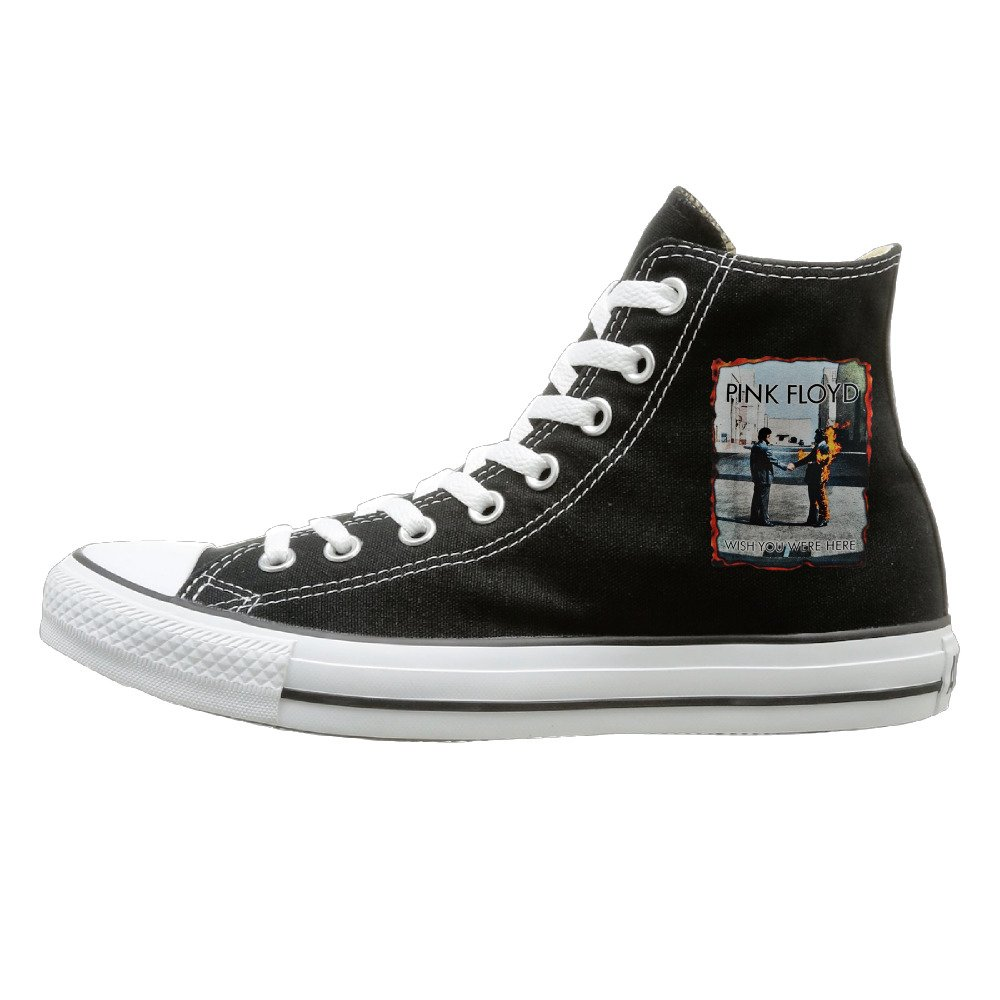 e192a698fc92b5 Amazon.com  Laotan Unisex Pink Floyd Wish You Were Here Cover High Top  Sneakers Canvas Shoes Fashion Sneakers Shoes Casual Style Black  Sports    Outdoors