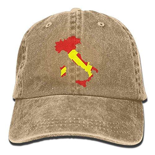 Map for Cowboy Sport Men Skull Denim Hats Cap Hat Women Italy Flag DEFFWB Cowgirl qwtTPS