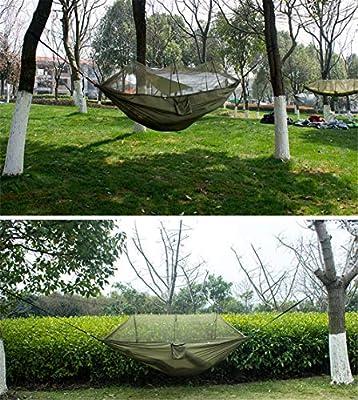 Hamaca al Aire Libre mosquitera paracaídas Tela encriptación Malla jardín Camping Senderismo Conveniente Alta Carga Multifuncional: Amazon.es: Jardín
