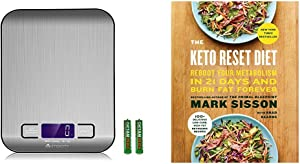 The Keto Reset Diet: Reboot Your Metabolism in 21 Days and Burn Fat Forever & Etekcity Digital Kitchen Scale