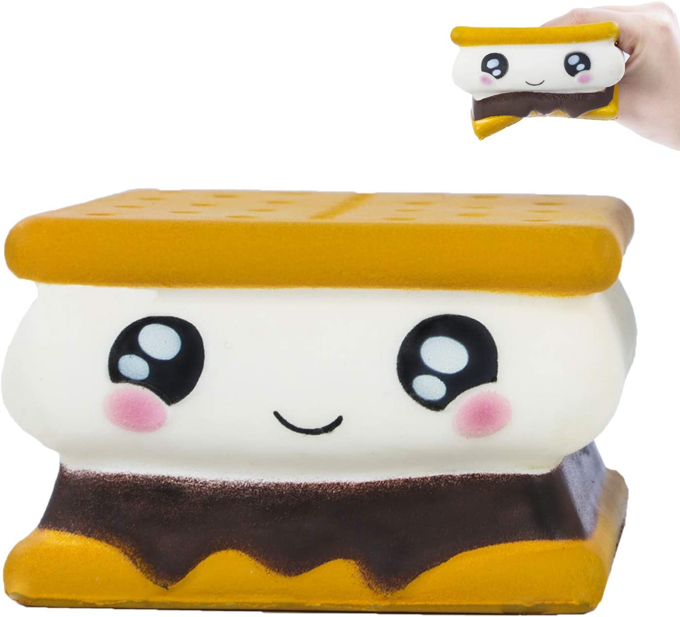 AILIMY Squishies Sandwich Biscuit Jumbo Slow Rising Cute Creamy Food Scent for Kids Party Toys