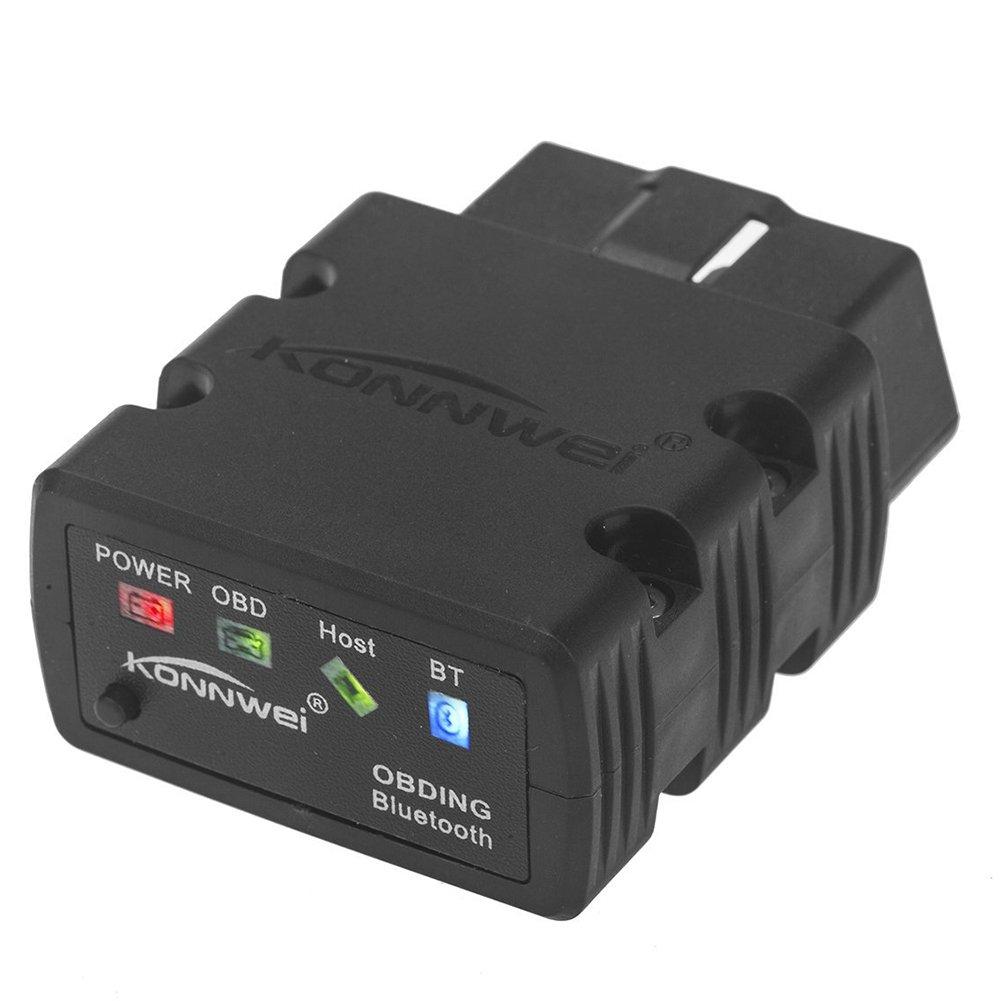 Amazon com mini bluetooth wireless obd ii car auto diagnostic scan tools black automotive