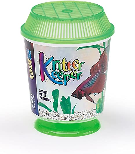 Lees Kritter Keeper Assorted Medium Round w//Lid and Pedestal