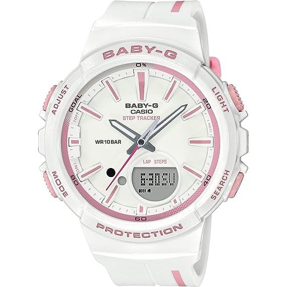 CASIO Reloj Analógico-Digital para Mujer de Cuarzo con Correa en Resina BGS-100RT-7AER: Amazon.es: Relojes
