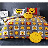 Emoji Expressions UK Single/US Twin Duvet Cover and Pillowcase Set
