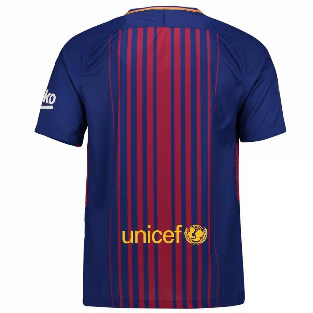 2017-2018 Barcelona Home Football Soccer T-Shirt Trikot Trikot Trikot (Ousmane Dembele 11) - Kids 58a6e3
